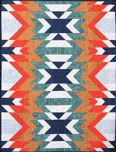 Go West by Bonjour Quilts. PDF quilt pattern for purchase. Me gusta la novedad