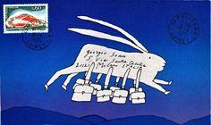 Lettre de Folon à Giorgio Soavi, Puiseaux, 8 avril 1975