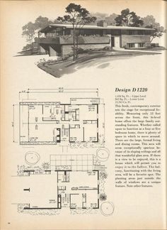 The house plans are from Home Planners 180 Multi-Level Designs 1977