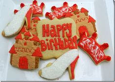 Happy Birthday Princess cookies
