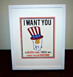 Cute Patriotic Handprint