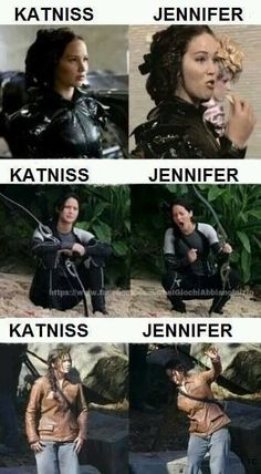 Funny pictures about The difference between Jennifer Lawrence and Katniss. Oh, and cool pics about The difference between Jennifer Lawrence and Katniss. Also, The difference between Jennifer Lawrence and Katniss. Hunger Games Memes, The Hunger Games, Hunger Games Fandom, Hunger Games Catching Fire, Hunger Games Trilogy, Catching Fire Funny, Catching Fire Quotes, Hunger Games Outfits, Katniss Everdeen
