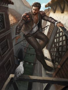 The wolf hunter in Mediterranean,a fantasy character for having fun between two jobs media: Photoshop CS 6 The Wolf hunter Fantasy Male, Fantasy Rpg, Medieval Fantasy, Fantasy Artwork, Dungeons And Dragons Characters, Dnd Characters, Fantasy Characters, Character Concept, Character Art