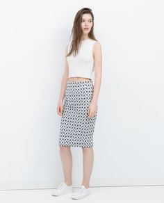 JACQUARD TUBE SKIRT-View all-Skirts-WOMAN-SALE | ZARA United States