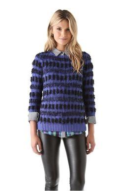 Winter Essential: Warm And Fuzzy Eyelash-Yarn Sweaters   | StyleCaster