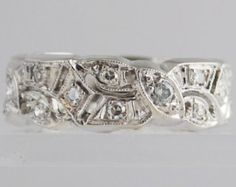 Vintage 14k Diamond Eternity Band - Size 7