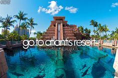 I want to go here so badly!!! I went on a cruise and the boat went right passed Atlantis. It was beautiful