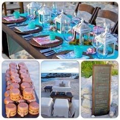 Fun and colorful beach dinner party - Mexican style! Esperanza Resort www.esperanzaresort.com