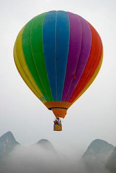 Hot Air balloon above Yangshou | Flickr - Photo Sharing!
