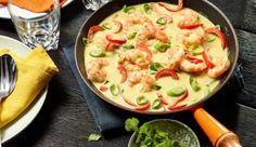 Ein tolles Curry Rezept mit Garnelen und frischem Koriander. In nur 20 Minuten auf dem Tisch.