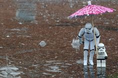 LEGO Storm Troopers in the Rain