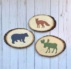 https://www.etsy.com/listing/503272992/woodland-nursery-art-wood-slices-fox
