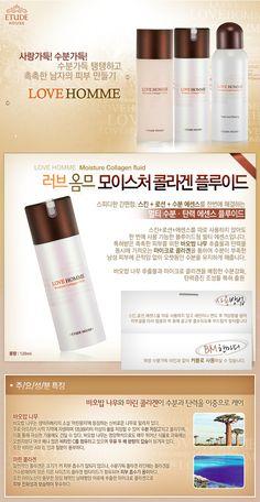 Etude House Korea Jakarta: Etude House Love Homme Moisture Collagen Fluid 120...