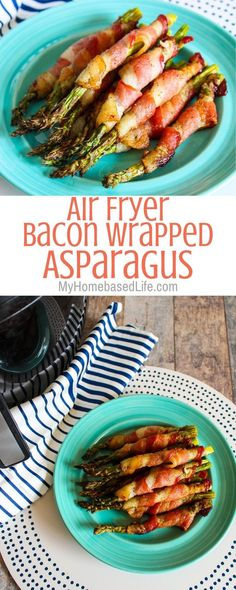 If you are looking for the juiciest recipe for Bacon Wrapped Asparagus this is i. If you are looking for the juiciest recipe for Bacon Wrapped Asparagus this is it and it's made in the Air Fryer! Ready in under 15 minutes. Air Fryer Recipes Asparagus, Air Fryer Oven Recipes, Air Frier Recipes, Air Fryer Dinner Recipes, Asparagus Recipe, Recipes For Airfryer, Baked Asparagus, Air Fryer Recipes Appetizers, Bacon Recipes For Dinner