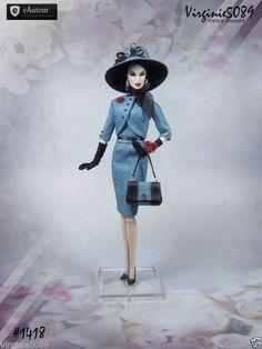 tenue outfit + accessoires pour fashion royalty barbie silkstone  vintage #1418