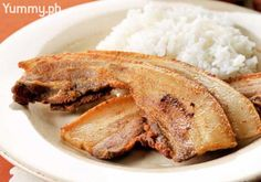 This Pinoy version of bacon is equal parts salty, chewy, and garlicky. Best served with red eggs and tomatoes over steamed rice.
