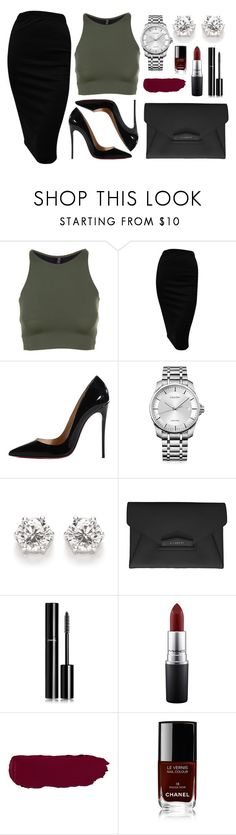 Untitled #85 by rodoulla97 on Polyvore featuring Onzie, Christian Louboutin, Calvin Klein, Givenchy, Chanel and MAC Cosmetics