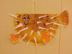 Paper plate puffer fish