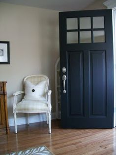 I love this door.  It would be even better if it were just wood stained and not painted, but this is great too.