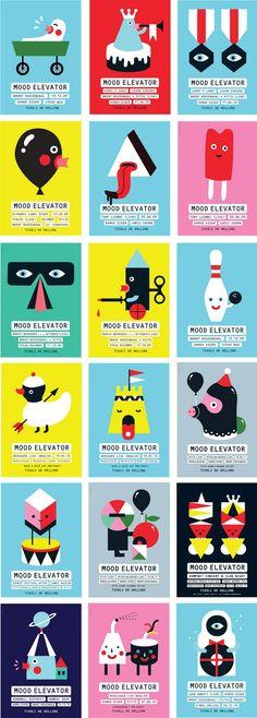 colorful--love how she uses black. (Sue Doeksen is an illustrator and designer based in the Netherlands.)