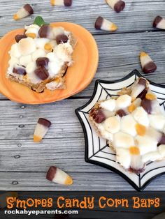 S'mores Candy Corn Bars