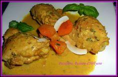Tajine de Poulet au lait de coco, curry, curcuma