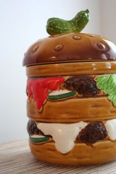 Vintage Cookie Jar 1979 Hamburger Cookie Jar