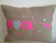 Coussin Rock fluo rectangulaire