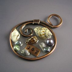 Resin Pendants | The third one was an experiment in 3-D. I've included moss and bark ...