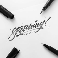 How You Can Improve Your Handwriting Brush Lettering Worksheet, Brush Lettering Quotes, Brush Pen Calligraphy, Hand Drawn Lettering, Types Of Lettering, Script Lettering, Typography Letters, Lettering Design, Lettering Ideas