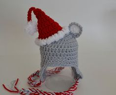 Adorable santa mouse hat pattern :)