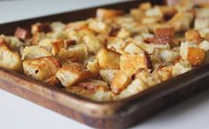 Best Sourdough Garlic Butter Croutons Recipe on Pinterest