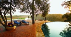 The wonderful infinity swimming pool at #Singita Pamushana Lodge, Malilangwe, #Zimbabwe - Aardvark Safaris.