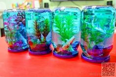 23. DIY Snow #Globe Aquarium - 31 DIY Snow #Globes to Make before… #Centerpiece