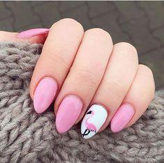 25 Flamingo-Nägel-Designs  #designs #flamingo #nagel