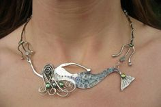 mermaid necklace , want