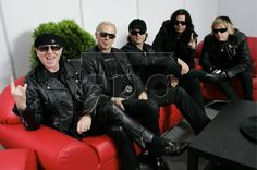 Klaus Meine, Rudolf Schenker, Matthias Jabs, Pawel Maciwoda and James Kottak of German rock group Scorpions during a press conference in Gdansk, Poland, 03 June 2009. The Scorpions will perform in concert on 04 June to mark the 20th anniversary of the overthrow of communism in eastern Europe