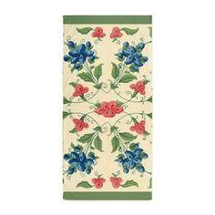 Vintage Flower & Leaves Design Beach towel