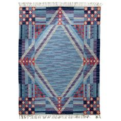 Swedish Flat-Weave Carpet, AME KH | From a unique collection of antique and modern russian and scandinavian rugs at https://www.1stdibs.com/furniture/rugs-carpets/russian-scandinavian-rugs/