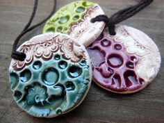 Pick One Clay Diffuser Necklace in Green, Blue, or Purple, Wholesale Aromatherapy Pendant Bulk Ceramic Diffuser Jewelry, Aromatherapy Gift by ThisOnesMineDesigns on Etsy https://www.etsy.com/listing/295018929/pick-one-clay-diffuser-necklace-in-green