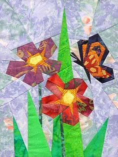 Spring Visitor Paper-Pieced Quilt Pattern at Paper Panache