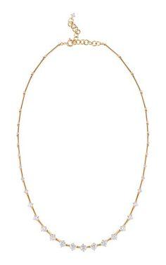 Sequence Diamond Yellow Gold Necklace by Fernando Jorge Diamond Hoop Earrings, Bar Earrings, Diamond Jewelry, Diamond Necklaces, Om Necklace, 18k Gold, Fine Jewelry, Jewelry Box, Gemstones