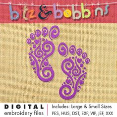 Digital Embroidery Design  INSTANT DOWNLOAD DIGITAL FILE: Includes PDF color sheet and 2 convenient sizes:  Larger Size: 5.03 in x 5.9 in  127.9