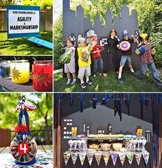 """MARVELous Superhero Birthday Party from Right-Hand Gal {with a super fun """"Hero Training Course"""" activity}! http://hwtm.me/12eUybR"""