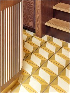 Designer Peter Mikic makes a strong statement at Chucs with our bespoke Nadia Oro Encaustic Cement Tiles.
