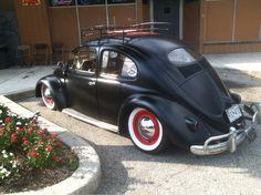 Matte Black oval window Beetle