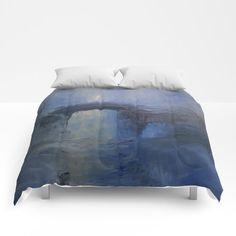 Under the bridge Comforters by taylorbernart Sweet Sweet, King Queen, Twin Xl, Comforters, Ottoman, Bedding, Sleep, Cold, Warm