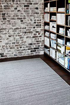 A&Co Herringbone Weave - Limestone & Charcoal
