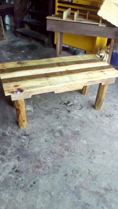 Rustic Coffee Table Made from #Pallets   99 Pallets