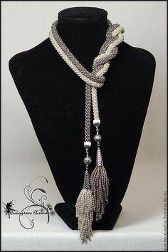 Seed Bead Jewelry, Beaded Jewelry, Handmade Jewelry, Jewellery, Rope Necklace, Beaded Necklace, Necklaces, Diy Bordados, Fabric Jewelry